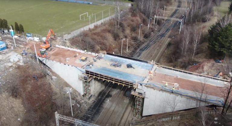 Informacja dotycząca budowy wiaduktu w Radlinie na ul. Mariackiej