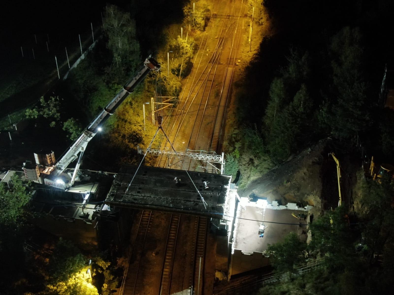 Budowa wiaduktu w Radlinie