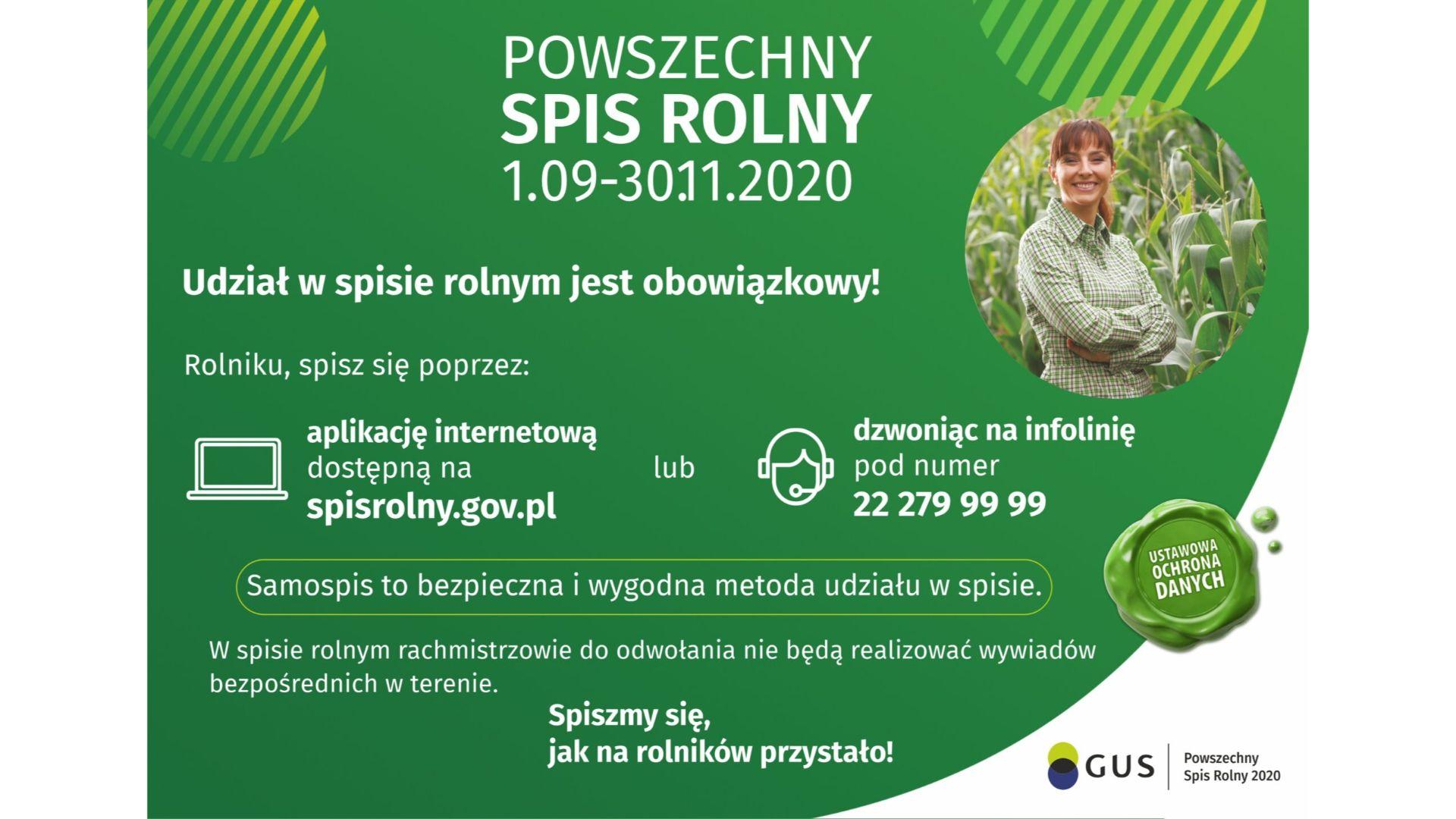Informacja na temat sposobu realizacji Powszechnego Spisu Rolnego w 2020