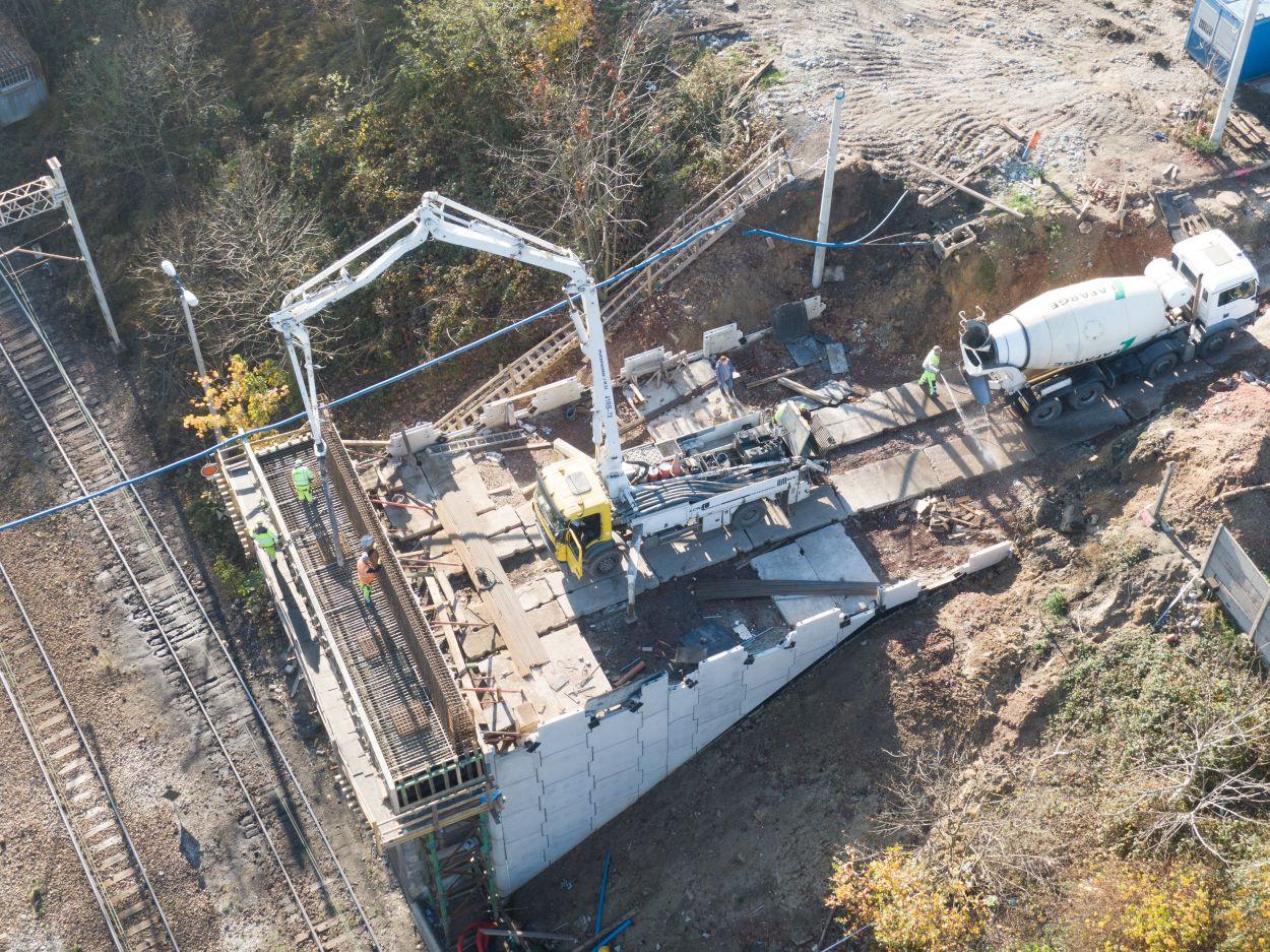 Budowa wiaduktu – listopad 2020
