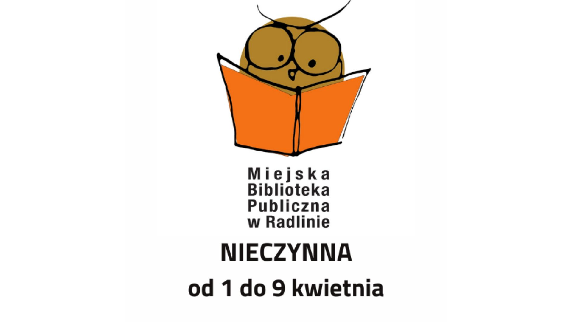 Miejska Biblioteka nieczynna od 1 do 9 kwietnia