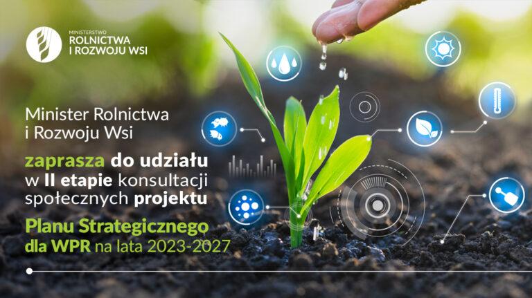 Zaproszenie do udziału w kolejnym etapie konsultacji społecznych projektu Planu Strategicznego dla Wspólnej Polityki Rolnej