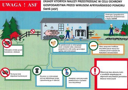 Akcja informacyjna dotycząca ASF